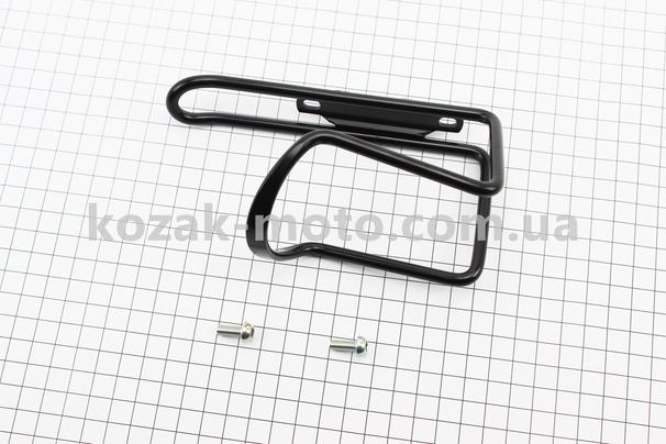 (SPELLI)  Флягодержатель алюминиевый, крепл. на раму, черный SBC-101