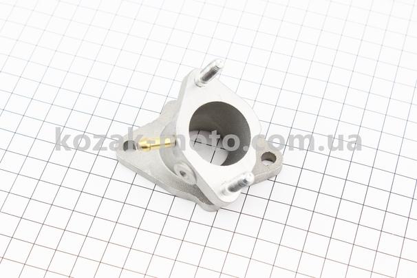 (Китай)  Патрубок карбюратора (метал)