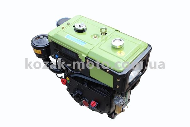(ТАТА)  Двигатель мотоблочный в сборе 8л.с. (завод ZUBR) SH180NDL длинная крышка