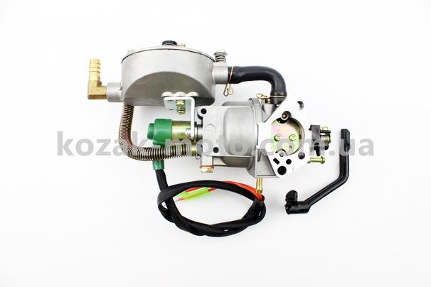 (JING LONG)  Газовый карбюратор LPG (пропан-бутан) для генераторов 4-6кВт (механизм рычажный) 173F/177F/182F/188F/190F
