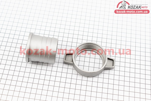 (Китай)  Переходник мотопомпы с фланца на шланг, алюминиевый к-кт 2шт, 2
