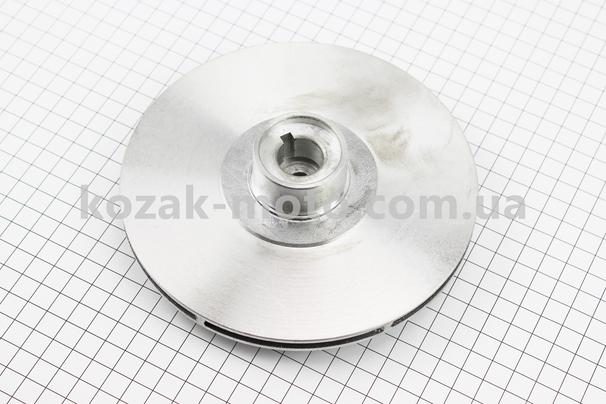 (Китай)  Робоче колесо (крильчатка) D = 160mm, під вал d = 20mm, 6 лопатей, алюміній