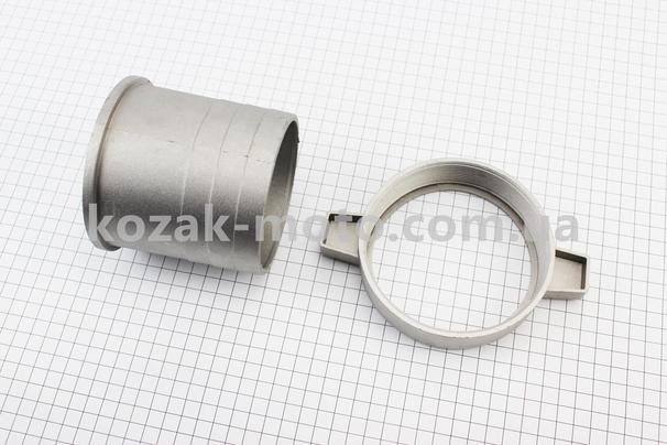(Китай)  Переходник с фланца на шланг, алюминий, 4