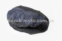 Чехол сиденья (эластичный, прочный материал) черный/синий, ЛЮКС