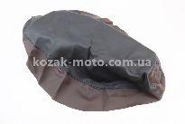 Чехол сидения Honda LEAD AF20 (эластичный, прочный материал) черный/коричневый