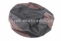 Чехол сидения Honda DIO AF27 (эластичный, прочный материал) черный/коричневый