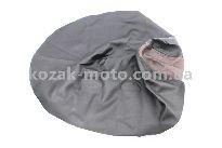Чехол сидения Suzuki LETS (эластичный, прочный материал) черный/коричневый