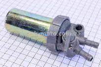 Кран топливный + фильтр в металлическом корпусе Тип №1